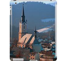 City church in winter wonderland | landscape photography iPad Case/Skin