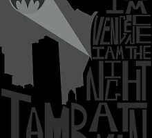 Batman Typography Poster by DanielCepeda