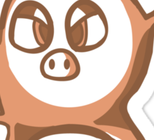 angry monkey thing Sticker