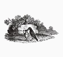 Antique Crow Aesop's Fable T-Shirt