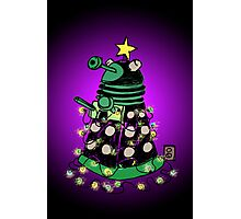 Christmas Dalek Photographic Print