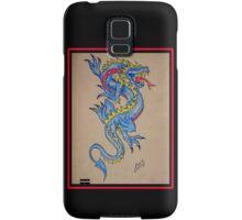 blue dragon parchment card Samsung Galaxy Case/Skin