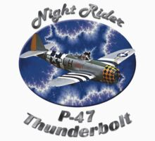 P-47 Thunderbolt Night Rider by hotcarshirts