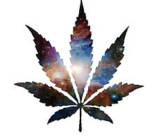 Galaxy Marijuana Leaf by turfinterbie