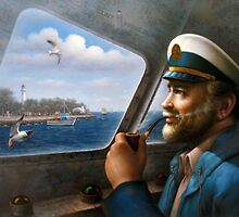 St. Simons Island Map Captain 4 by Yoo Choong Yeul