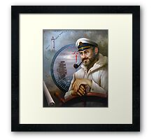 St. Simons Island Map Captain 1 Framed Print
