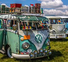 Old VW BUSES  by thatstickerguy