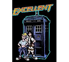 Bill and Ted Excellent Tardis Adventures  Photographic Print