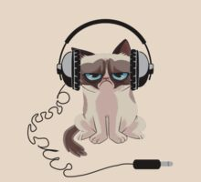 Grumpy Cat Headphones  by mutinyaudio