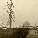 RRS Discovery in Sepia by kalaryder
