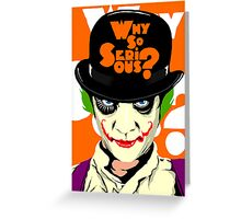 A Clockwork Joker - Serious Droog Greeting Card