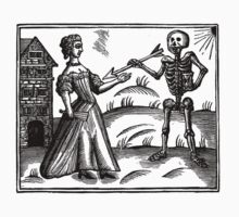Death and the Maiden - woodcut Kids Clothes