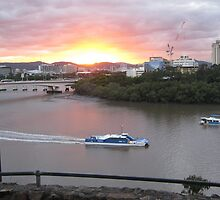 Brisbane River Sunset (2011) by ozscottgeorge