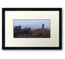 The Scrapyard Sentry Framed Print