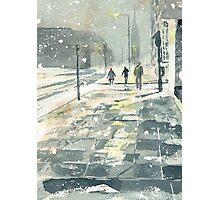 Winter Evening, Crossing Thistle Street Photographic Print