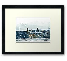 Edinburgh Snow 2 Framed Print