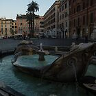 Rome's Fabulous Fountains - Fontana della Barcaccia at the Spanish Steps, Early Morning by Georgia Mizuleva
