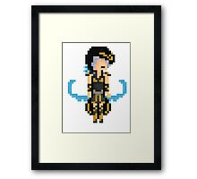 Ashe, the pixelated Frost Queen Framed Print