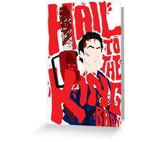 Army Of Darkness/Bruce Campbell Greeting Card