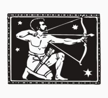 Sagitarrius the Archer woodcut by Pixelchicken