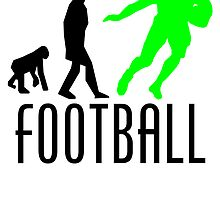 Football Running Back Evolution (Green) by kwg2200