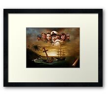 Map captain and five children Framed Print