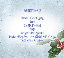 Peace & Love Christmas card by sarnia2
