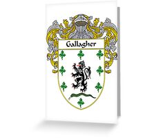 Gallagher Coat of Arms/Family Crest Greeting Card