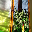 Stained Glass Window Reflection by BlueMoonRose