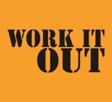 Work It Out (black ink) Workout Tee. Crossfit Tee. Exercise Tee. Weightlifting Tee. Running Tee. Fitness by Max Effort