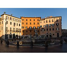 Rome's Fabulous Fountains - Fountain of Neptune, Piazza Navona, Rome, Italy Photographic Print