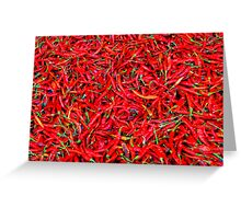 Red Hot Chilli Peppers Greeting Card