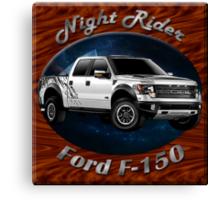 Ford F-150 Truck Night Rider Canvas Print