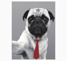 Pug Tie by WRBclothing