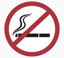 No smoking symbol stickers, black and red by Mhea