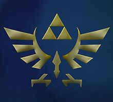 The Legend Of Zelda Dirty Metallic Logo by KidChris