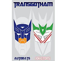 Batman and Transformers - TransGohtam Photographic Print