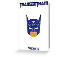 Batman and Transformers - Autobats Greeting Card