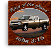 Chevy Silverado Truck King Of The Road Canvas Print