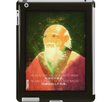 Lao Tzu, Wise, Wisdom, Confucius, Oldman, Quote, Epic, Words, Oriental iPad Case/Skin
