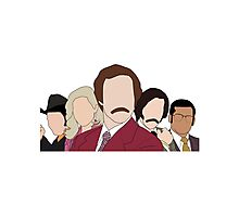 Anchorman faceless Photographic Print