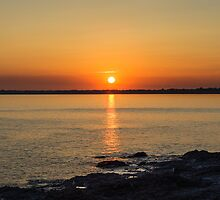 Summer Sunset at Ogmore-by-sea, Wales. UK by Heidi Stewart