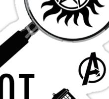 Multifandom - Black Sticker