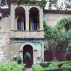 Petrach's house Arqua Petrarcha Italy 198404170021  by Fred Mitchell
