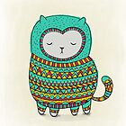 cozy cat by khandishka