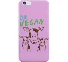 GO VEGAN - CALVES iPhone Case/Skin