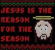 Jesus is The Reason for The Season Ugly Christmas Sweater by xdurango