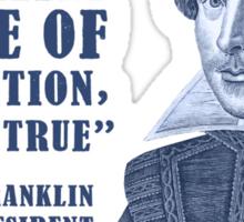 Franklin Internet Quote Sticker