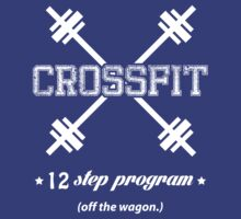 CrossFit 12 Step Program (whtie ink) Workout Tee. Crossfit Tee. Exercise Tee. Weightlifting Tee. Running Tee. Fitness by Max Effort