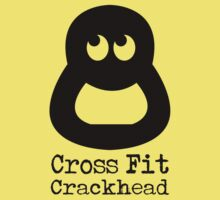 CrossFit Crackhead (black ink) Workout Tee. Crossfit Tee. Exercise Tee. Weightlifting Tee. Running Tee. Fitness by Max Effort